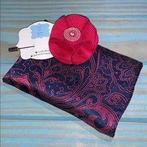 Men's pocket square and lapel pin NEW